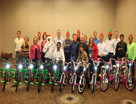 Group photo with bicycles